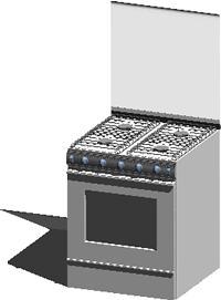 imagen Cocina 3d con materiales aplicados, en Electrodomésticos - Muebles equipamiento