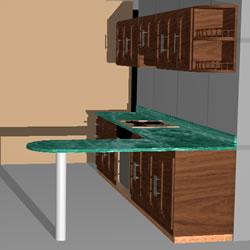 Planos de Cocina 3d, en Cocinas – Muebles equipamiento
