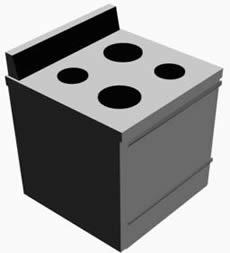 Cocina 3d, en Cocinas – Muebles equipamiento