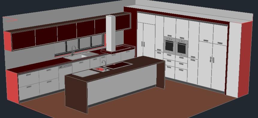 imagen Cocina 3d, en Cocinas - Muebles equipamiento
