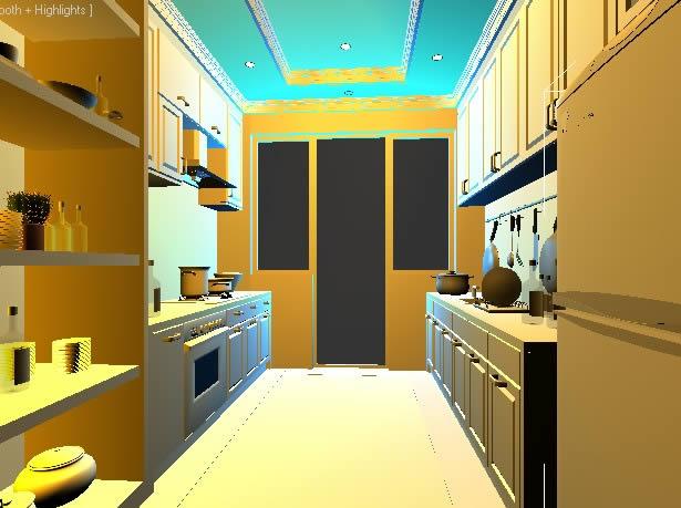 imagen Cocina 3d, en Cocinas - Sanitarios