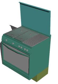 Planos de Cocina bosh p4 3d, en Cocinas – Muebles equipamiento