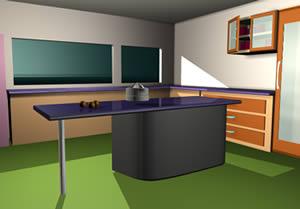 Cocina con electrodomésticos y materiales, en Cocinas – Muebles equipamiento