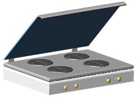 Planos de Cocina de mesa -anafe, en Cocinas – Muebles equipamiento