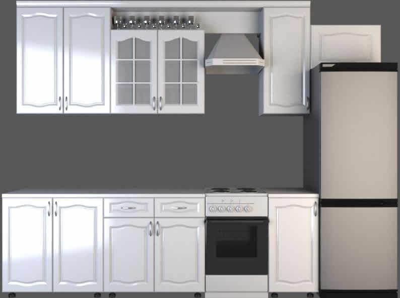 imagen Cocina en 3d, en Cocinas - Muebles equipamiento
