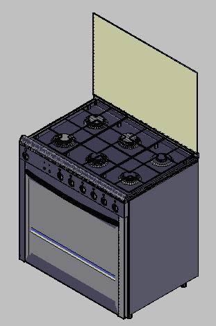 Planos de Cocina – fogáo 6 bocas 3d, en Electrodomésticos – Muebles equipamiento
