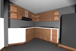 Planos De Cocina Para Vivienda 3d Con Materiales Aplicados