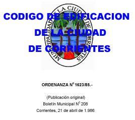 imagen Codigo de edificacion ciudad de corrientes- argentina, en Argentina - corrientes - Normas de edificación