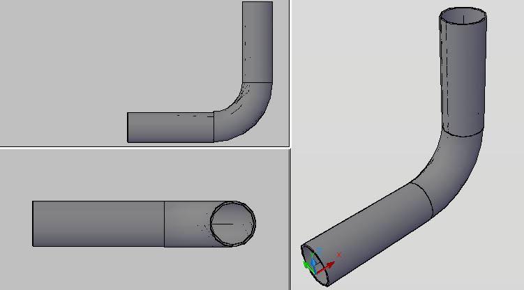 Planos de Codo 90 14diam 3d ced. std 3d, en Válvulas tubos y piezas – Máquinas instalaciones