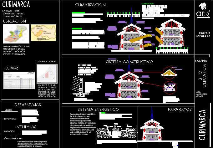 imagen Colegio bioclimatico integrado curimarca 2da parte, en Arq. bioclimática - Proyectos