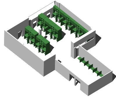 imagen Colegio san nolberto proyecto 3d, en De madera - Detalles constructivos