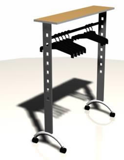 Colgador ropa, en Supermercados y tiendas – Muebles equipamiento