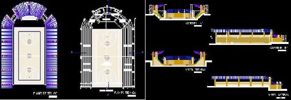Planos de Coliseo polifuncional, en Canchas – Deportes y recreación