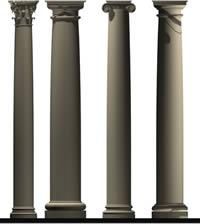 Planos de Columnas griegas en 3d, en 5 órdenes de la arquitectura griega – Historia