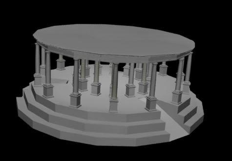 imagen Columnas romanas, en Arcos columnas y balustres - Historia