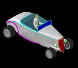 Planos de Combertible 3d, en Automóviles en 3d – Medios de transporte