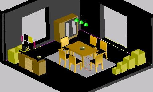 Planos de Comedor 3d, en Comedores – Proyectos
