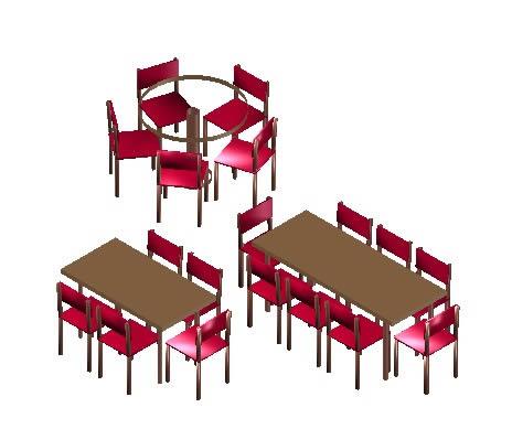 imagen Comedor 3d, en Mesas y juegos de comedor 3d - Muebles equipamiento