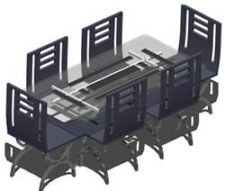 Planos de Comedor, en Mesas y juegos de comedor 3d – Muebles equipamiento