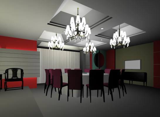 imagen Comedor grande 3d, en Mesas y juegos de comedor 3d - Muebles equipamiento