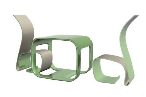 imagen Comedor minimalista, en Mesas y juegos de comedor 3d - Muebles equipamiento