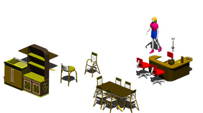 Planos de Comedor para 6 personas 3d, en Mesas y juegos de comedor 3d – Muebles equipamiento