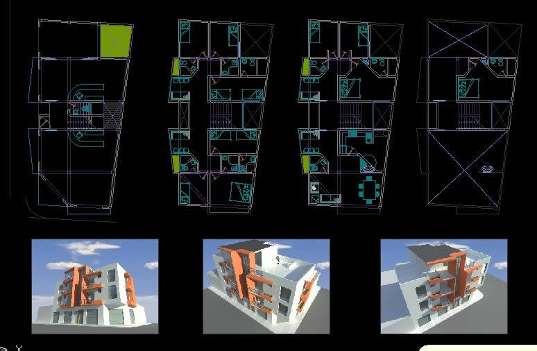 Planos de Comercio – hotel – vivienda, en Comercios varios – Proyectos