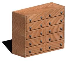Planos de Cómoda 3d, en Dormitorios – Muebles equipamiento