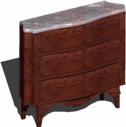 Planos de Comoda o mueble cajonera 3d, en Dormitorios – Muebles equipamiento