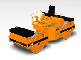 Compactadora para caminos 3d, en Maquinaria – Obradores