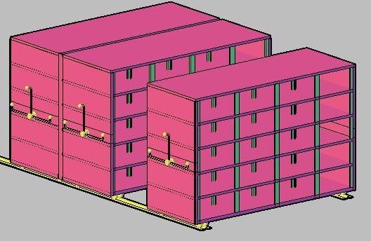 Planos de Compactadores 3d, en Oficinas y laboratorios – Muebles equipamiento