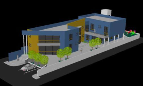 Planos de Complejo municipal 3d, en Oficinas bancos y administración – Proyectos