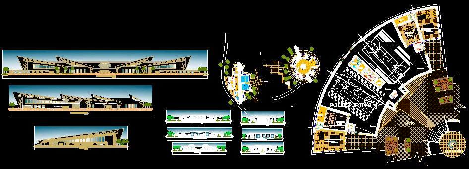imagen Complejo polideportivo, en Proyectos centros deportivos - Deportes y recreación
