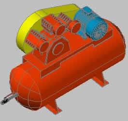 Planos de Compresor 3d, en Equipos de bombeo – Máquinas instalaciones