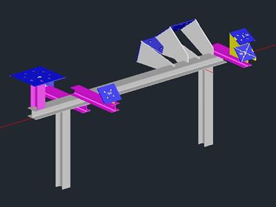 imagen Compresor modelo, en Estructuras de acero - Detalles constructivos