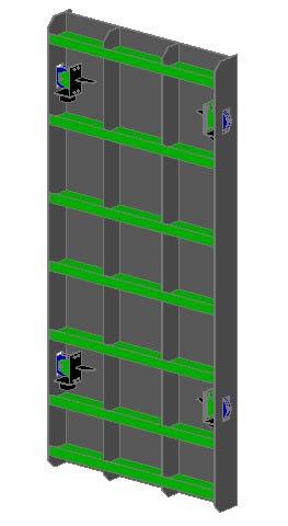 Planos de Compuerta blindada 3d, en Puertas especiales – Aberturas