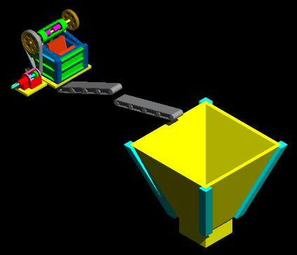 Planos de Copia de chancadora 3d, en Industria minera – Máquinas instalaciones