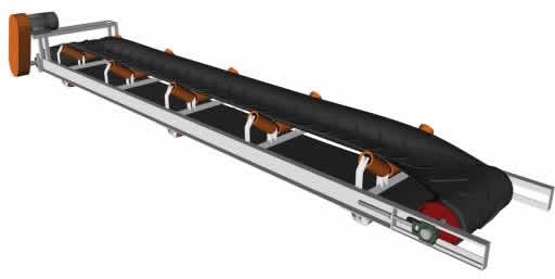 Correa transportadora 5 metros, en Proyectos de escaleras 2d – Escaleras