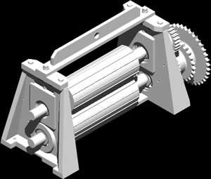 Planos de Cortadora de chicle, en Maquinaria para industria de la alimentación – Máquinas instalaciones