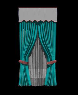 Planos de Cortina para ventana en 3d, en Cortinados – Aberturas