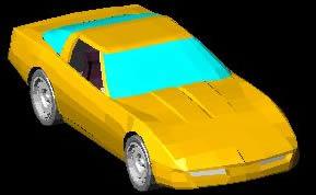 imagen Corvette  3d, en Automóviles en 3d - Medios de transporte