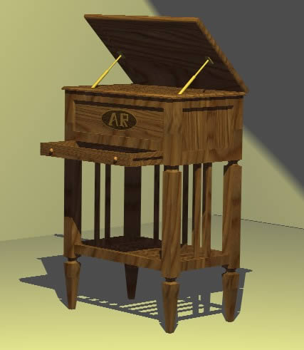 Planos de Costurero modernista, en Muebles varios – Muebles equipamiento