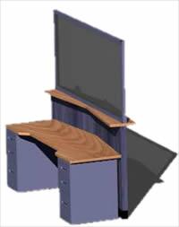 Planos de Counter atencion 3d, en Equipamiento bancario – Muebles equipamiento
