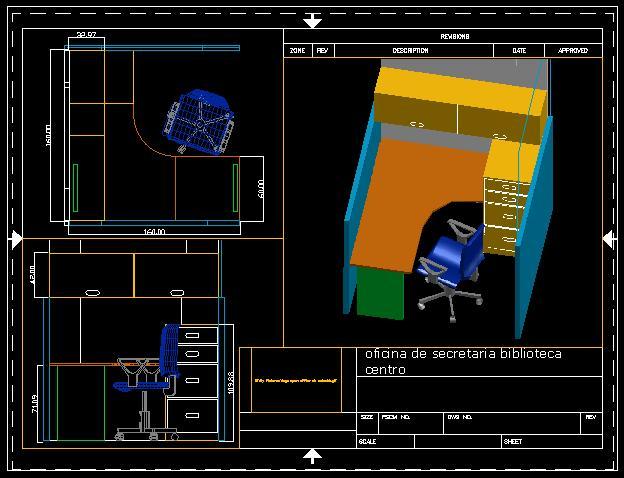 Planos de Cubiculo recepcion biblioteca 3d, en Oficinas y laboratorios – Muebles equipamiento