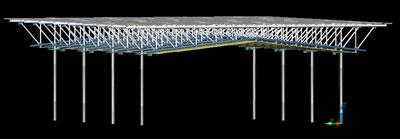 imagen Cubierta estructura de acero 3d para polideportivo, en Proyectos estadios - Deportes y recreación