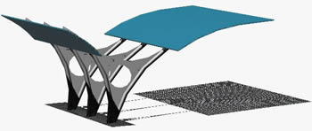 Planos de Cubierta para estacionamientos al aire libre, en Estacionamiento – Proyectos