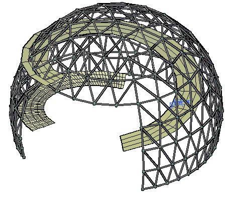 imagen Cupula 3d, en Bóvedas arcos y cupulas - Dibujando con autocad