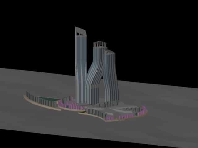 Planos de Dancing torre 3d, en Obras famosas – Proyectos