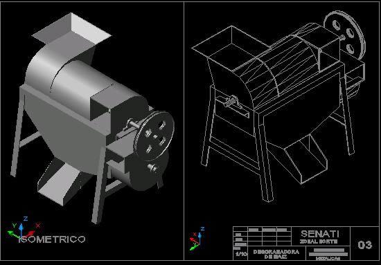 Planos de Desgranadora de maiz, en Maquinaria para industria de la alimentación – Máquinas instalaciones
