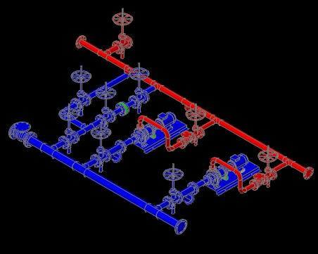 imagen Detalle de conexion a bombas, en Equipos de bombeo - Máquinas instalaciones